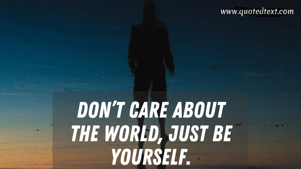 I don't care quotes for world