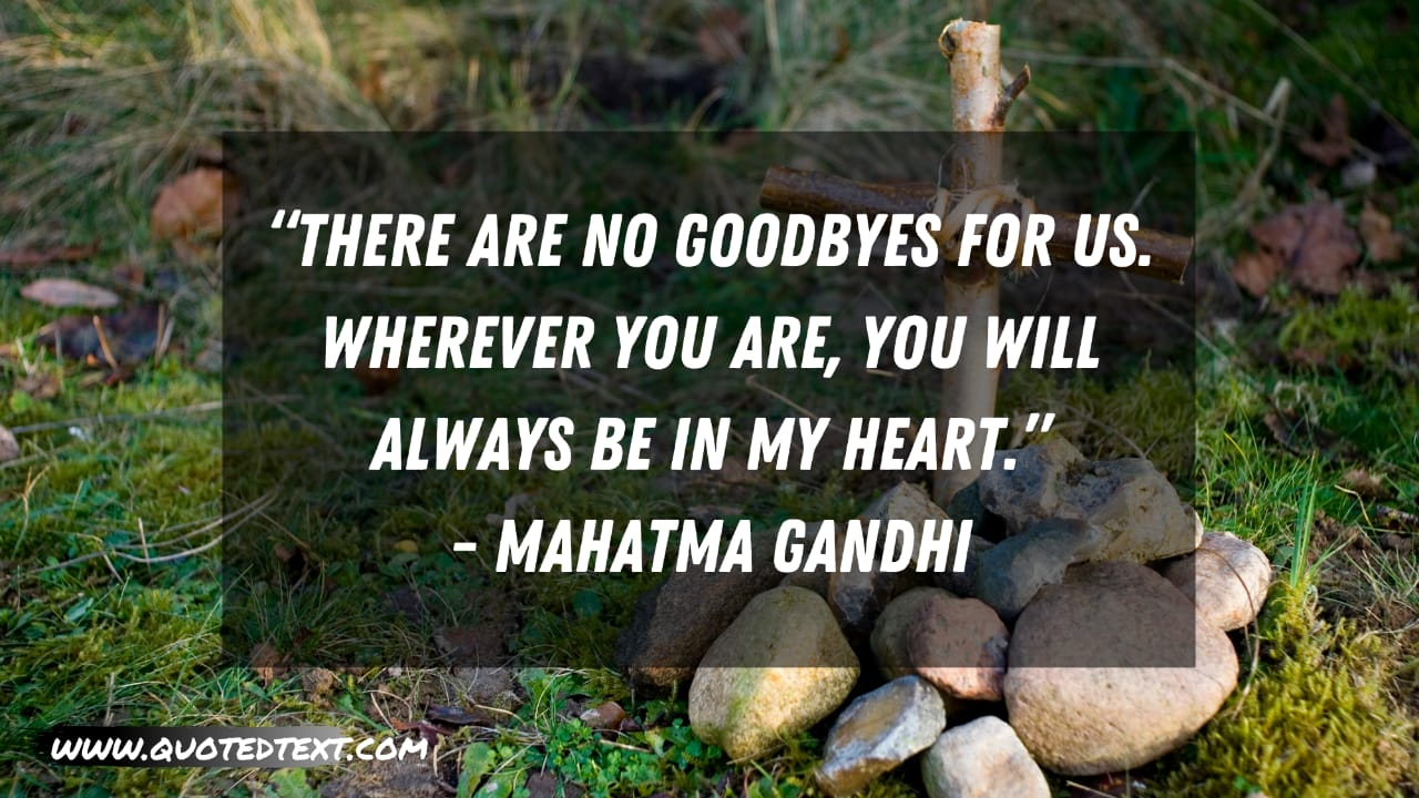 Rest in Peace quotes by Mahatma gandhi