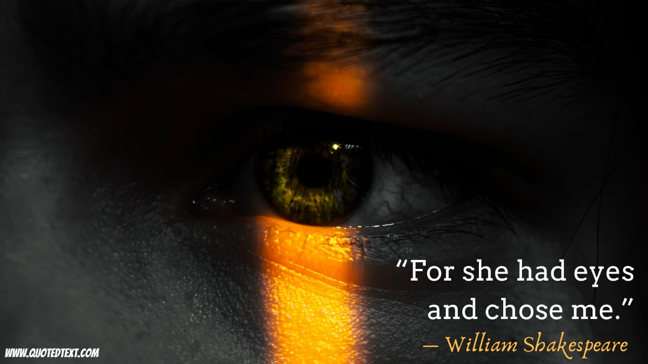 Beautiful Eyes quotes by William Shakespeare