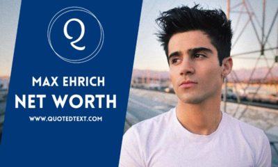 Max Ehrich net worth